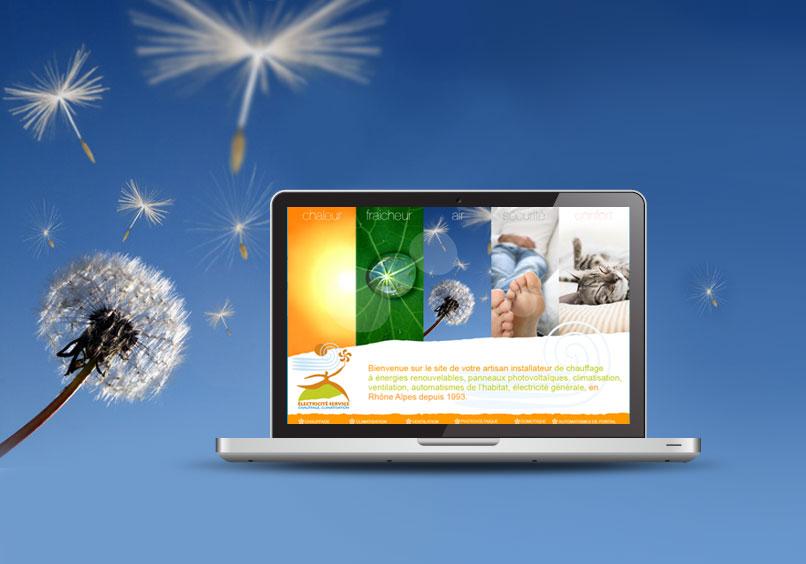 Création d'un site de solutions avec énergies renouvelables