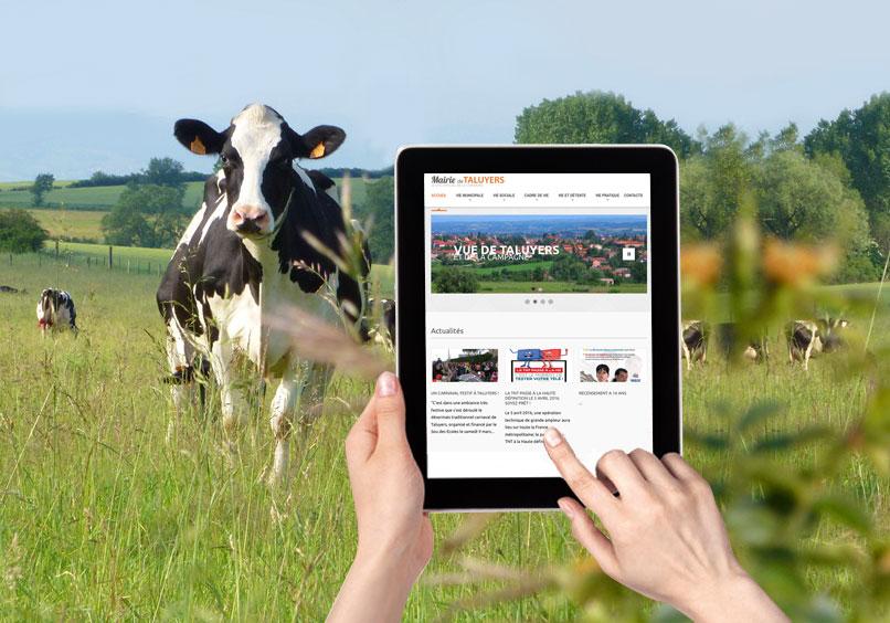 Création d'un site web pour Taluyers