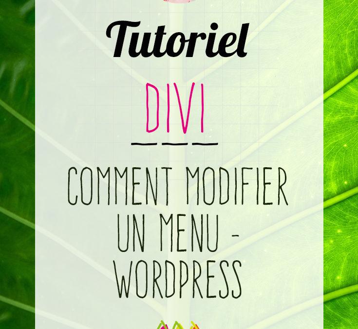 Divi : comment changer un menu – WordPress