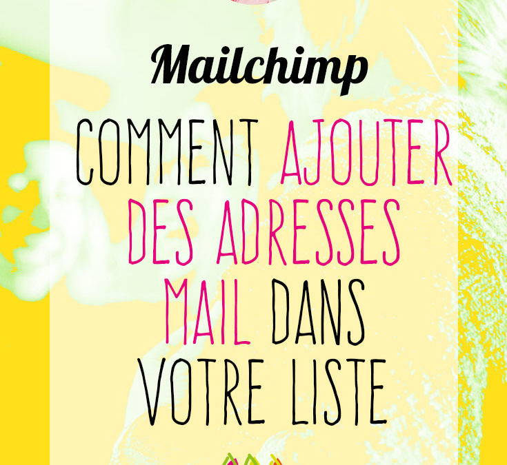 Mailchimp : comment ajouter des adresses mail
