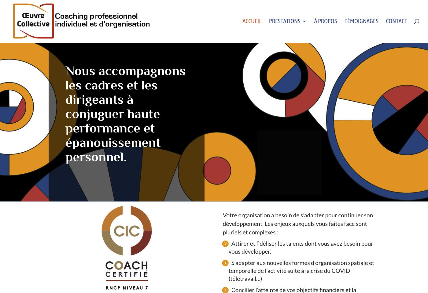 Création du site Œuvre Collective Elisa Morgand Lyon